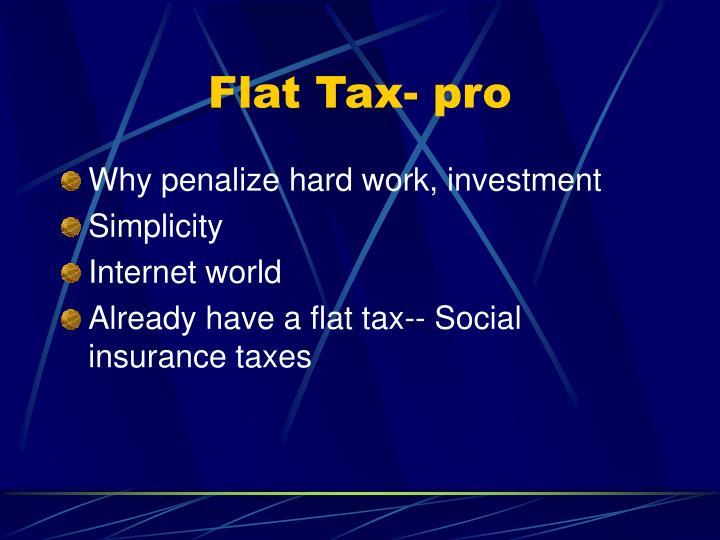 Flat Tax- pro