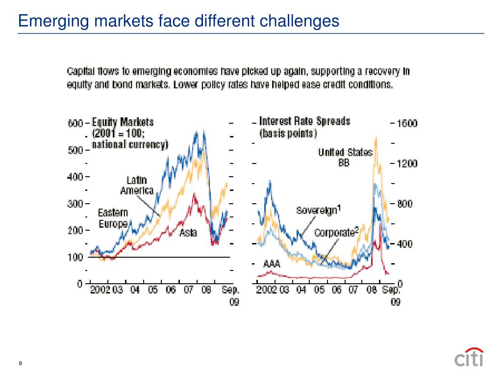 Emerging markets face different challenges