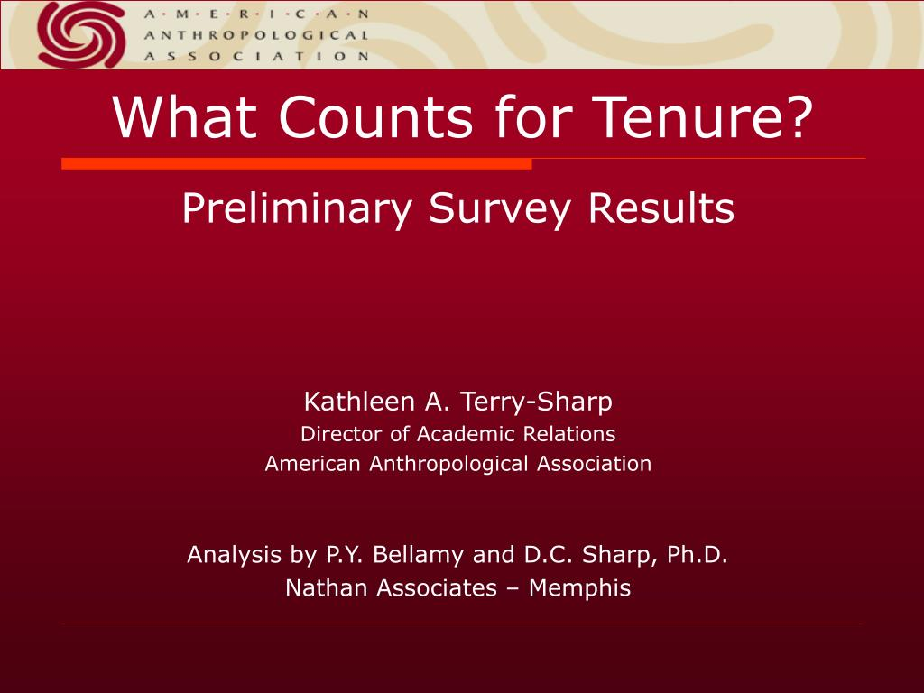 what counts for tenure