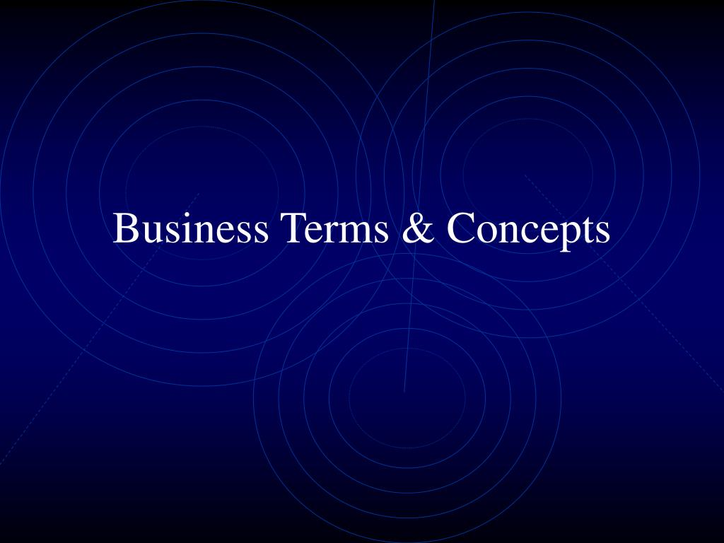 business terms concepts