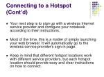 connecting to a hotspot cont d27