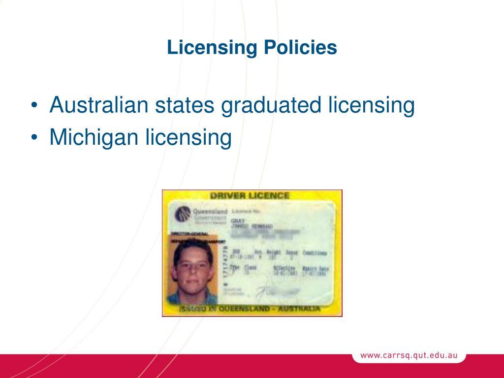 Licensing Policies