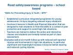 road safety awareness programs school based19