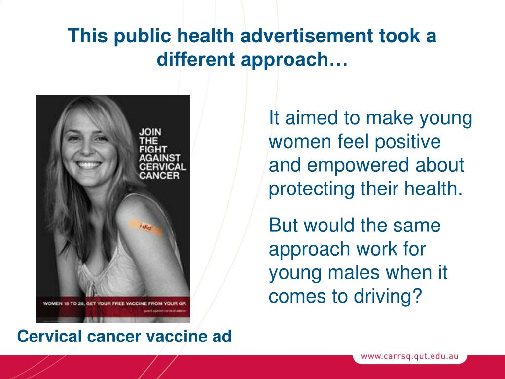 This public health advertisement took a different approach…