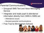 parental communications