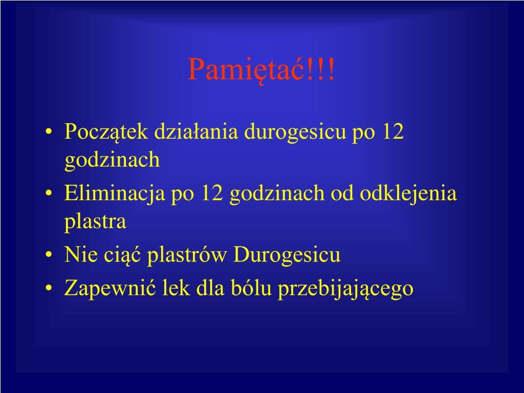 Pamiętać!!!