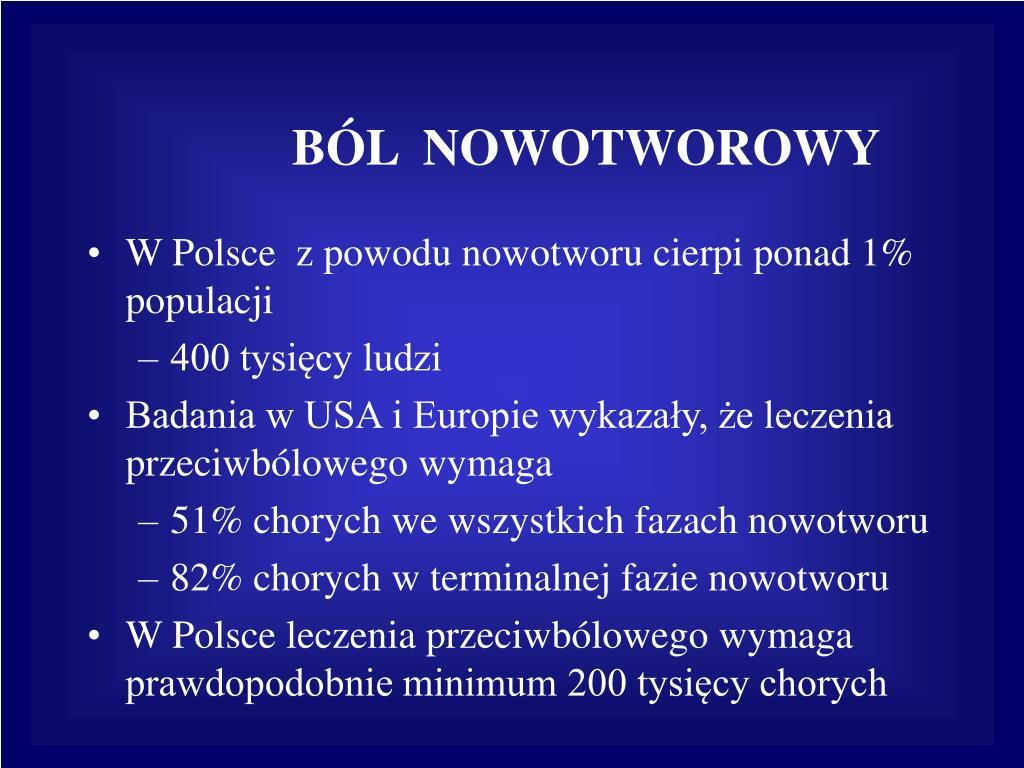 BÓL  NOWOTWOROWY