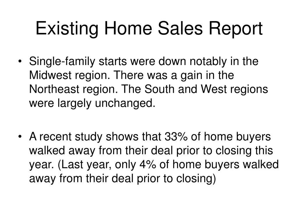 Existing Home Sales Report