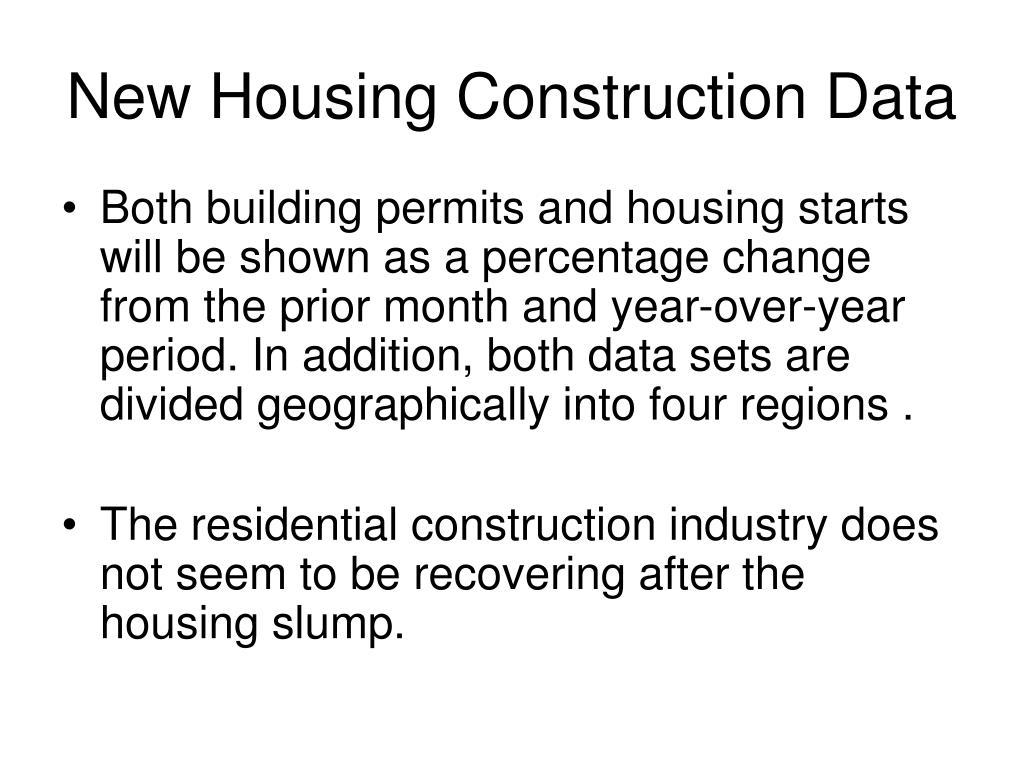 New Housing Construction Data
