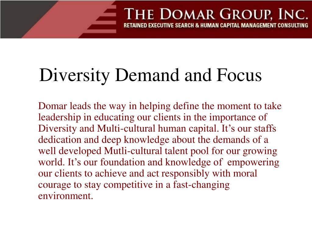Diversity Demand and Focus