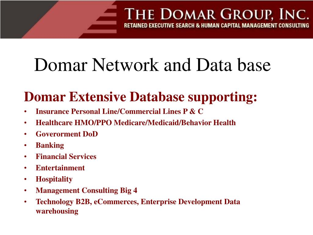 Domar Network and Data base