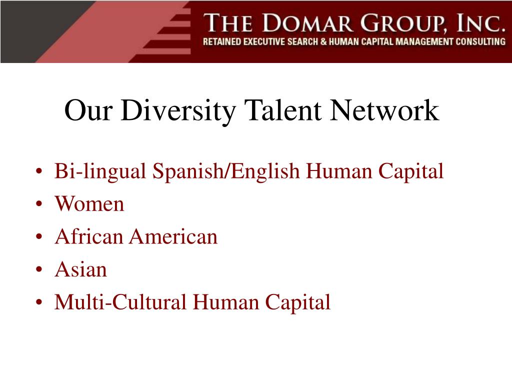 Our Diversity Talent Network