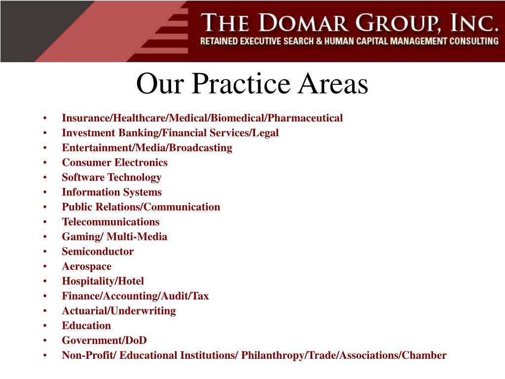 Our Practice Areas