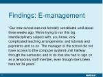 findings e management