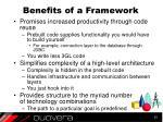 benefits of a framework