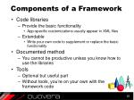 components of a framework