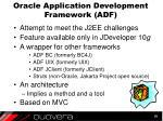 oracle application development framework adf
