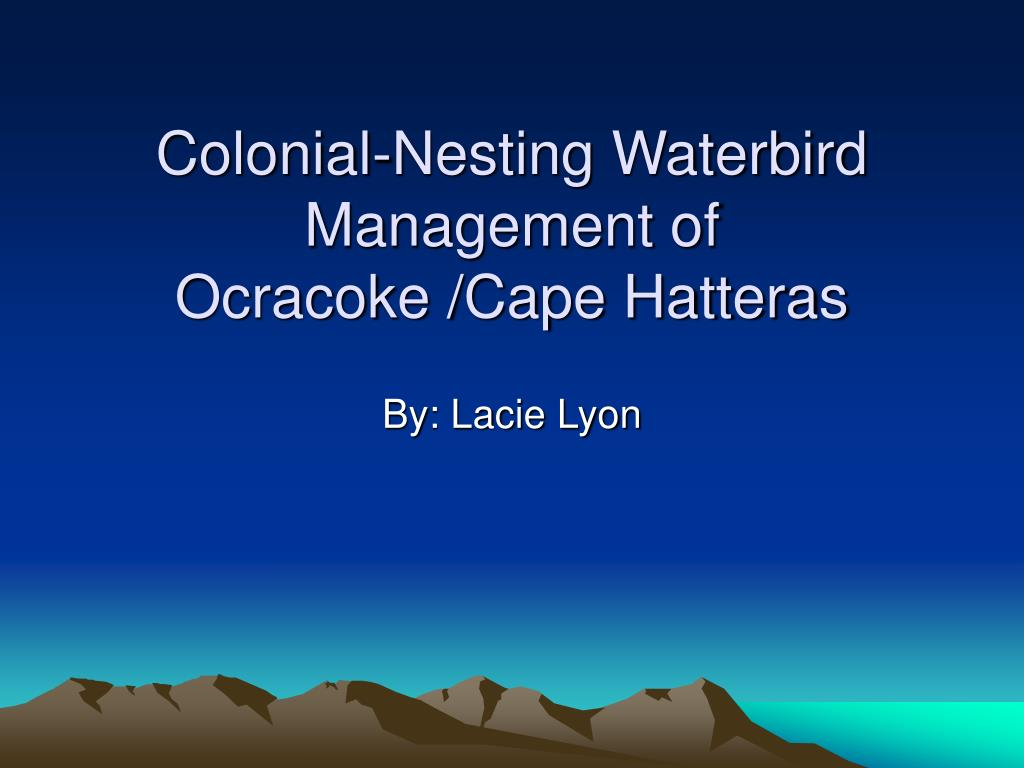 Colonial-Nesting Waterbird Management of