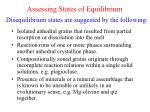 assessing states of equilibrium