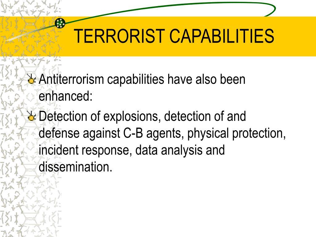 TERRORIST CAPABILITIES