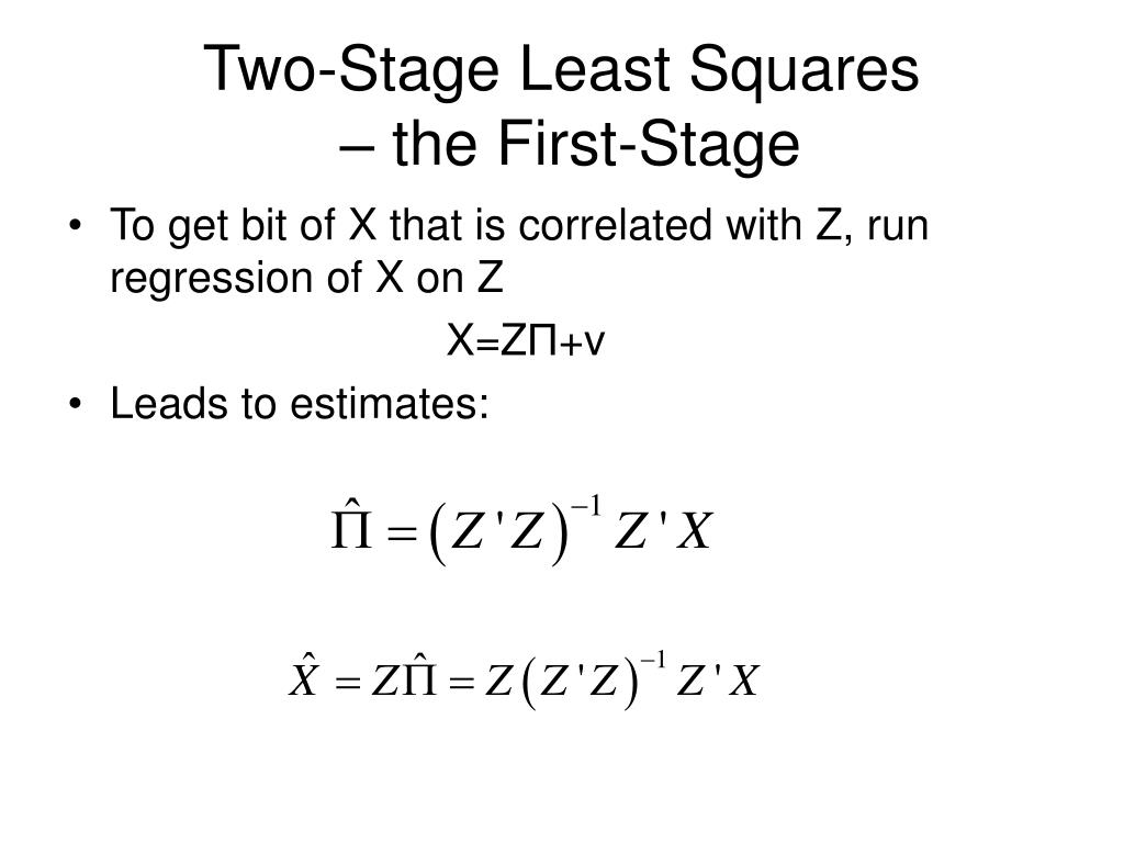 Two-Stage Least Squares