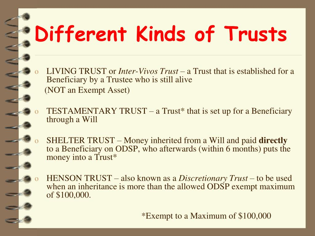 Different Kinds of Trusts