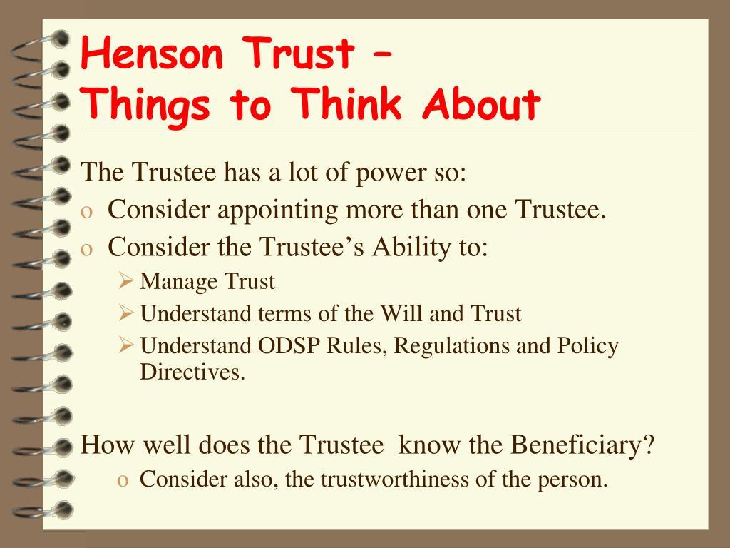 Henson Trust –