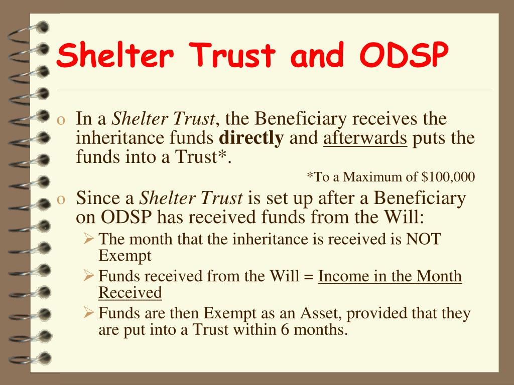 Shelter Trust and ODSP