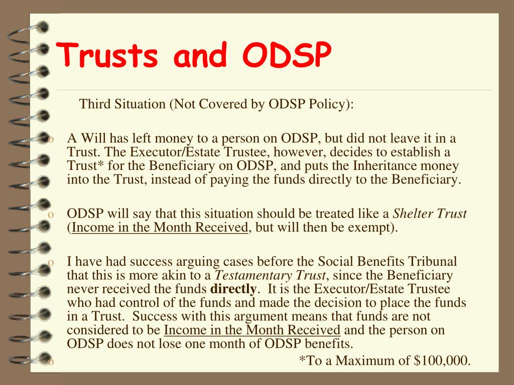 Trusts and ODSP