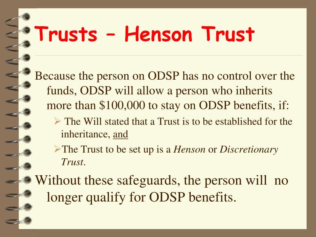 Trusts – Henson Trust