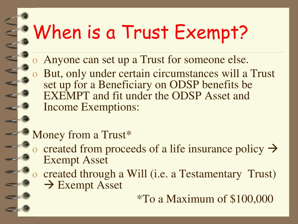 When is a Trust Exempt?