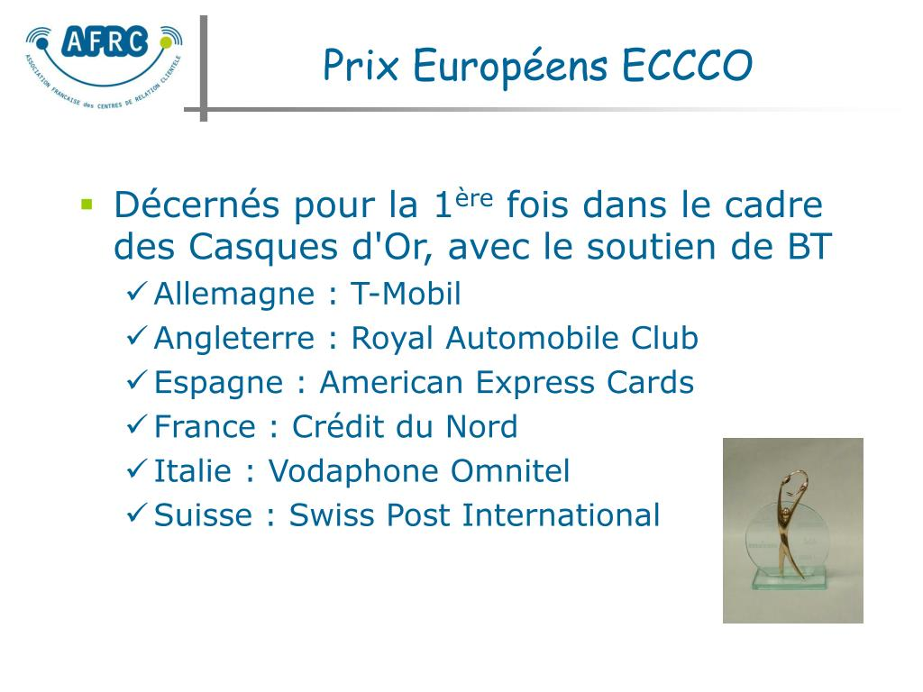 Prix Européens ECCCO