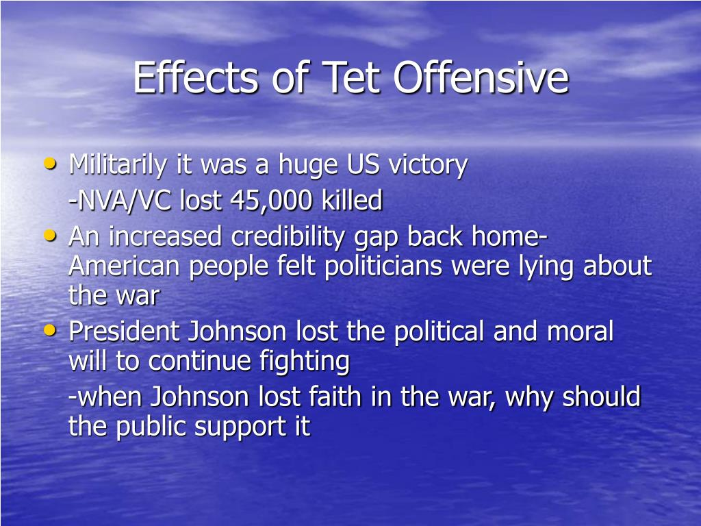 effects of the tet offensive essay