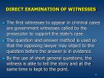 direct examination of witnesses