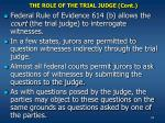 the role of the trial judge cont