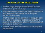 the role of the trial judge