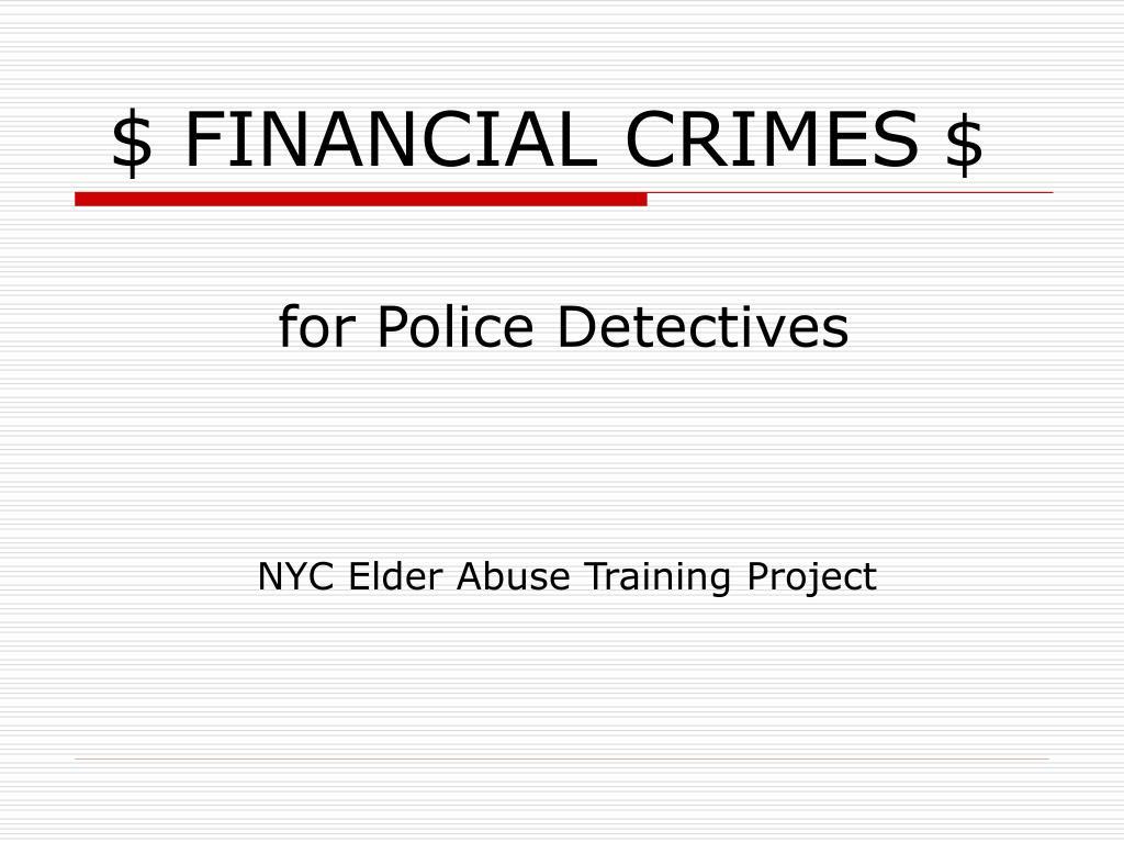 financial crimes
