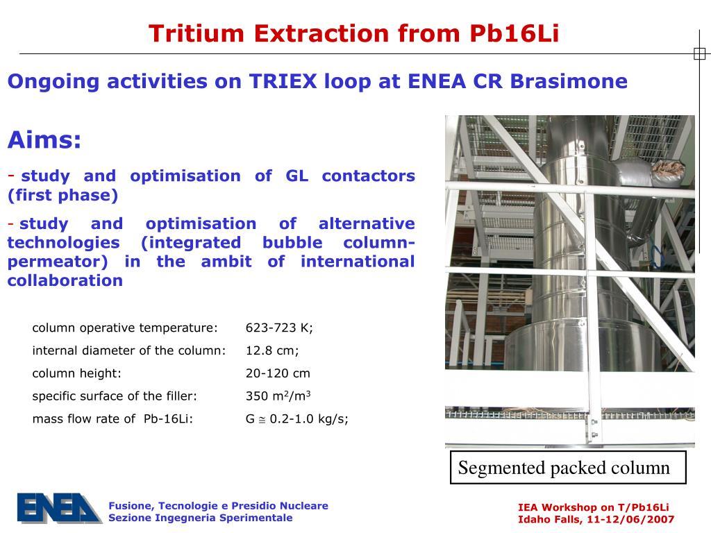 Tritium Extraction from Pb16Li