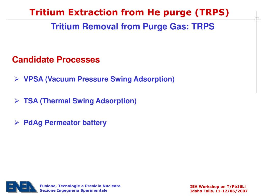 Tritium Extraction from He purge (TRPS)
