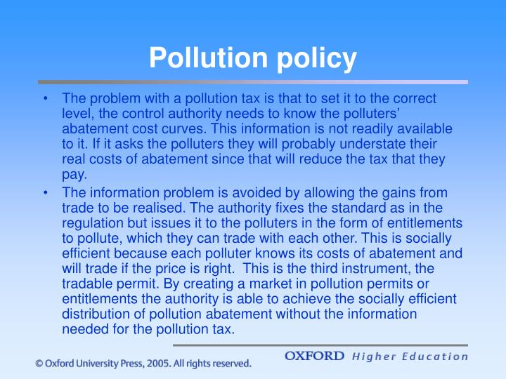 Pollution policy