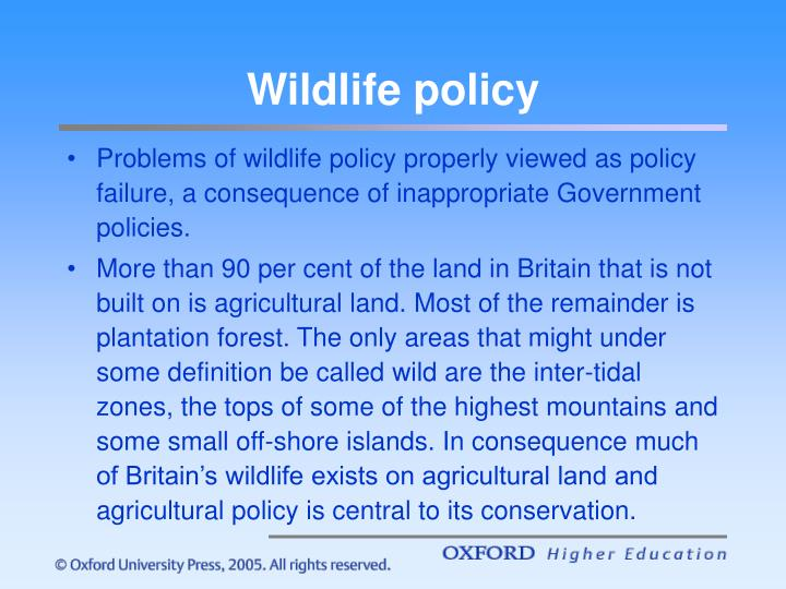 Wildlife policy