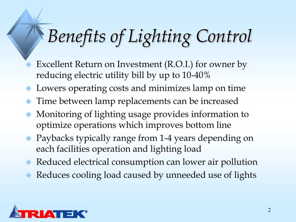 Benefits of Lighting Control