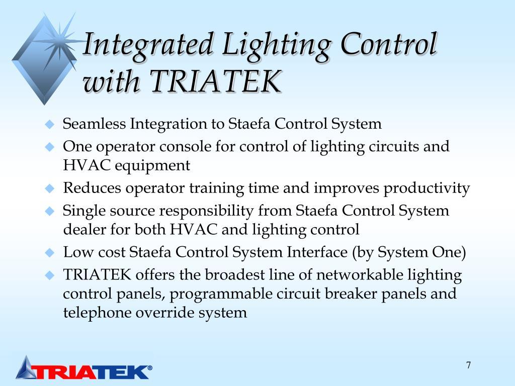 Integrated Lighting Control with TRIATEK
