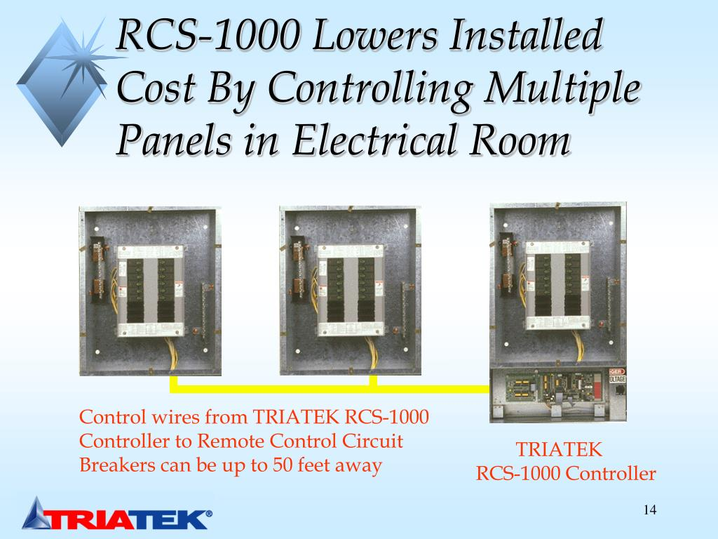 RCS-1000 Lowers Installed Cost By Controlling Multiple Panels in Electrical Room