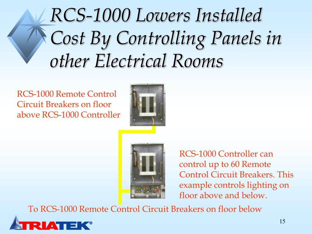 RCS-1000 Lowers Installed Cost By Controlling Panels in other Electrical Rooms