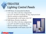 triatek lighting control panels
