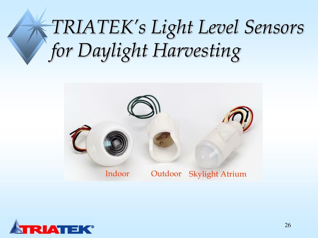 TRIATEK's Light Level Sensors for Daylight Harvesting