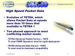 high speed packet data
