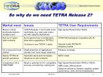 so why do we need tetra release 2