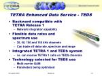tetra enhanced data service teds